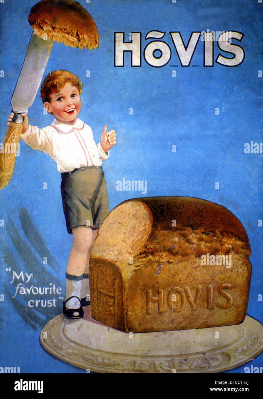 HOVIS BREAD ADVERT 1925 - Stock Image