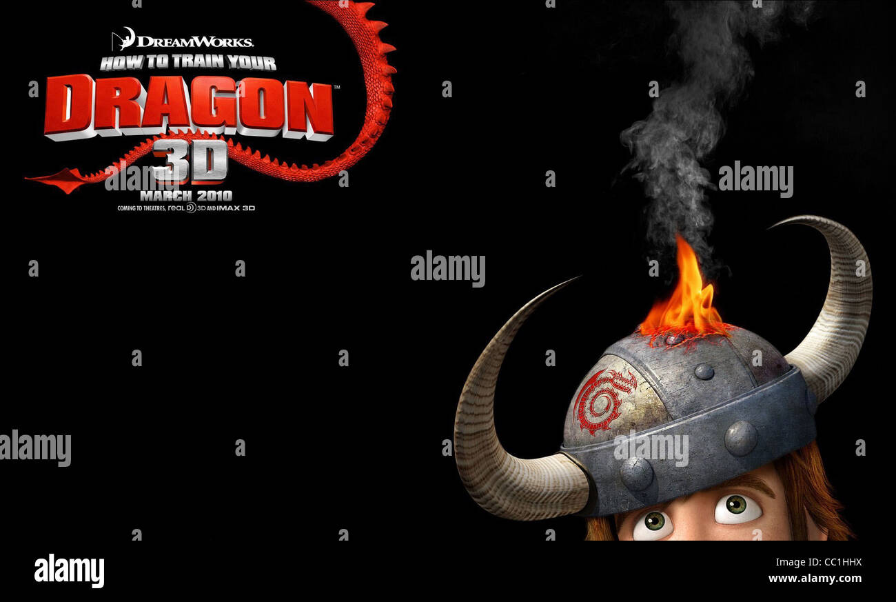 Hiccup Poster How To Train Your Dragon 2010 Stock Photo Alamy