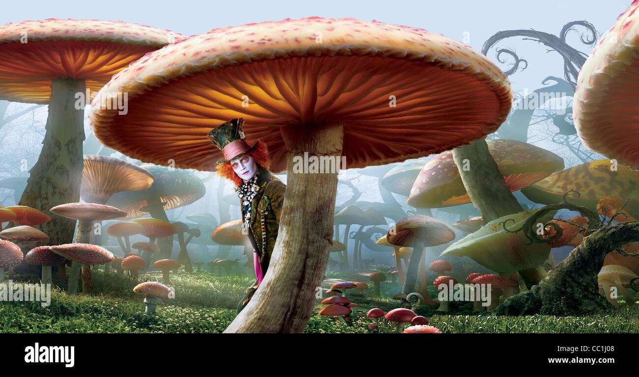 JOHNNY DEPP ALICE IN WONDERLAND (2010) - Stock Image