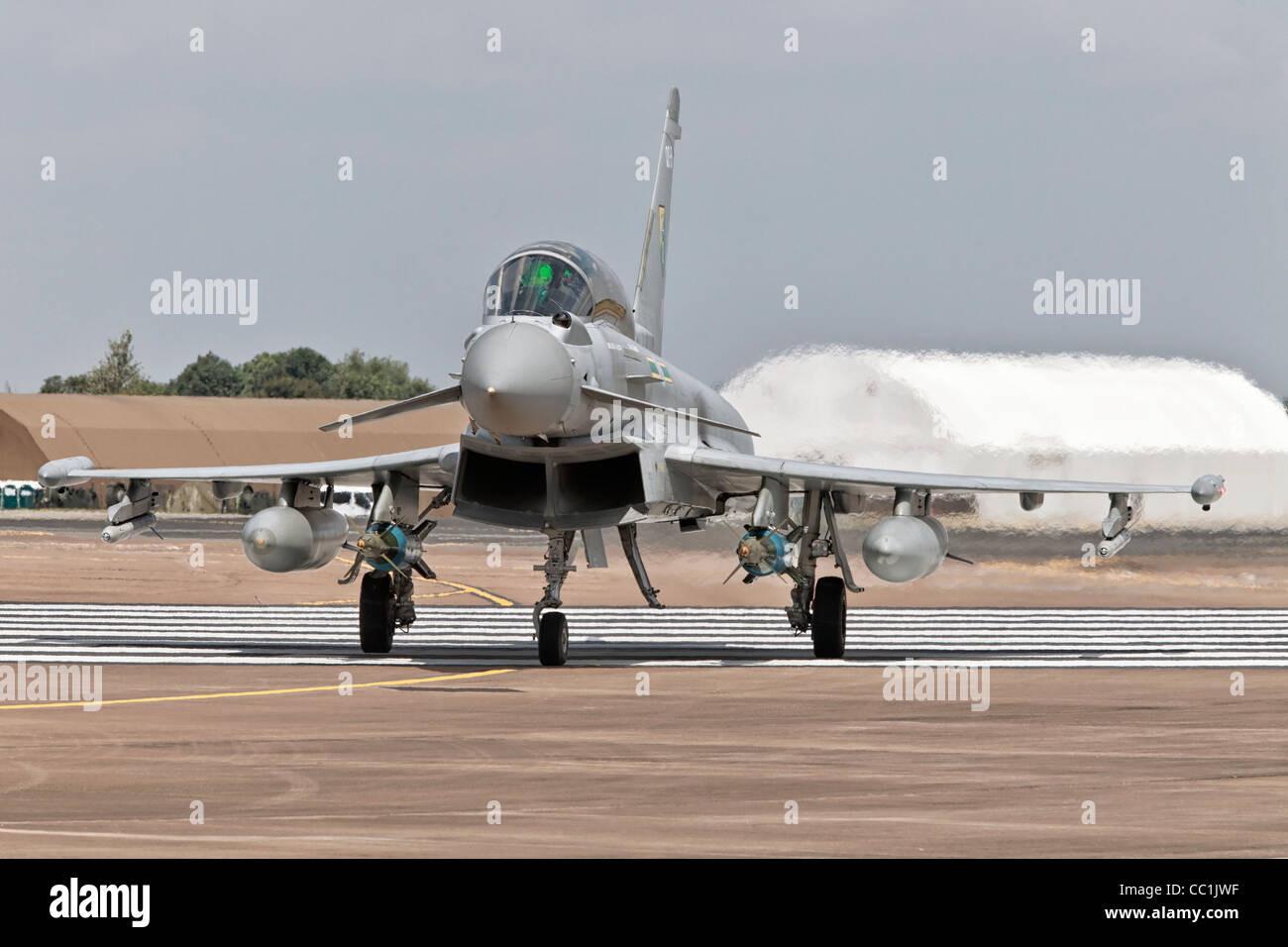 An RAF Bae Systems Typhoon fighter - Stock Image