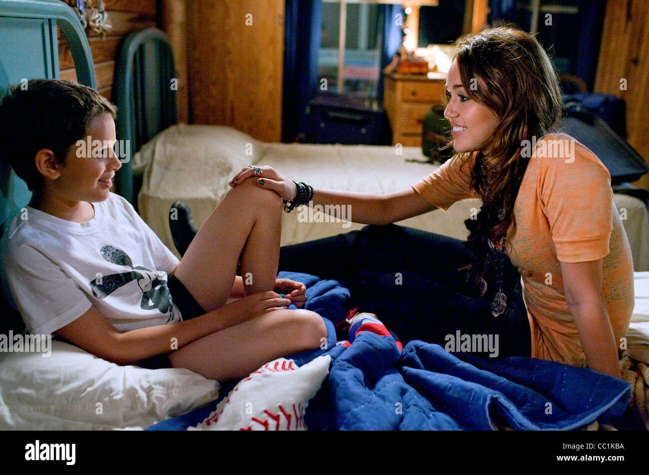 BOBBY COLEMAN & MILEY CYRUS THE LAST SONG (2010) Stock Photo