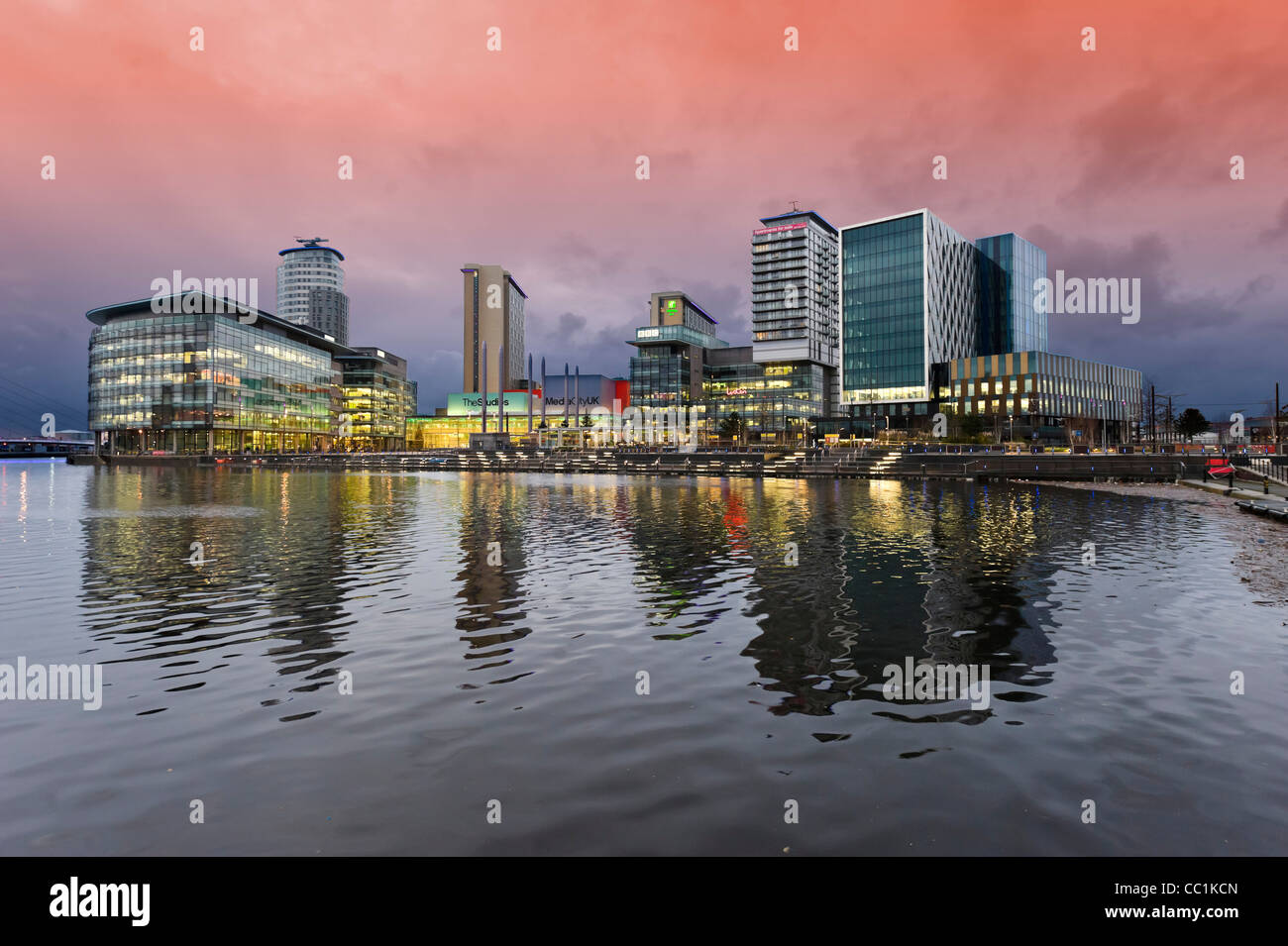 MediaCityUK, Salford Quays, Manchester, UK - Stock Image