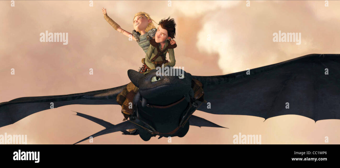 Astrid Hiccup Toothless How To Train Your Dragon 2010 Stock Photo Alamy