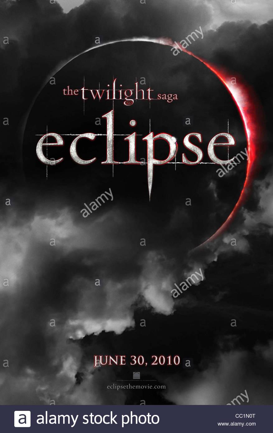 MOVIE POSTER THE TWILIGHT SAGA: ECLIPSE (2010) - Stock Image