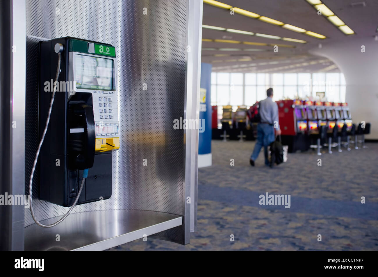 Airport Payphone - Stock Image