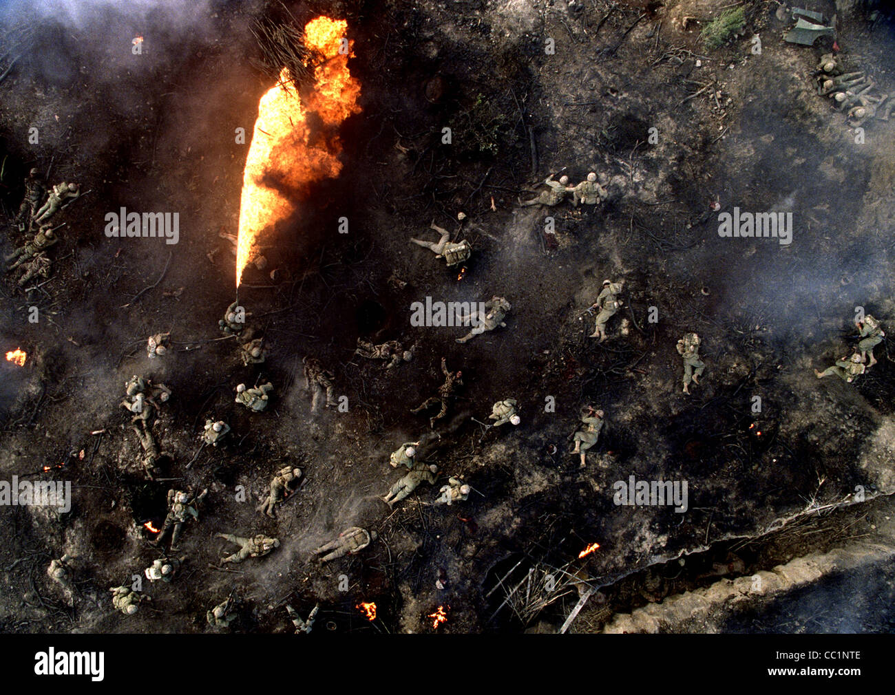 FLAME THROWER & WAR DEAD THE PACIFIC (2010) - Stock Image