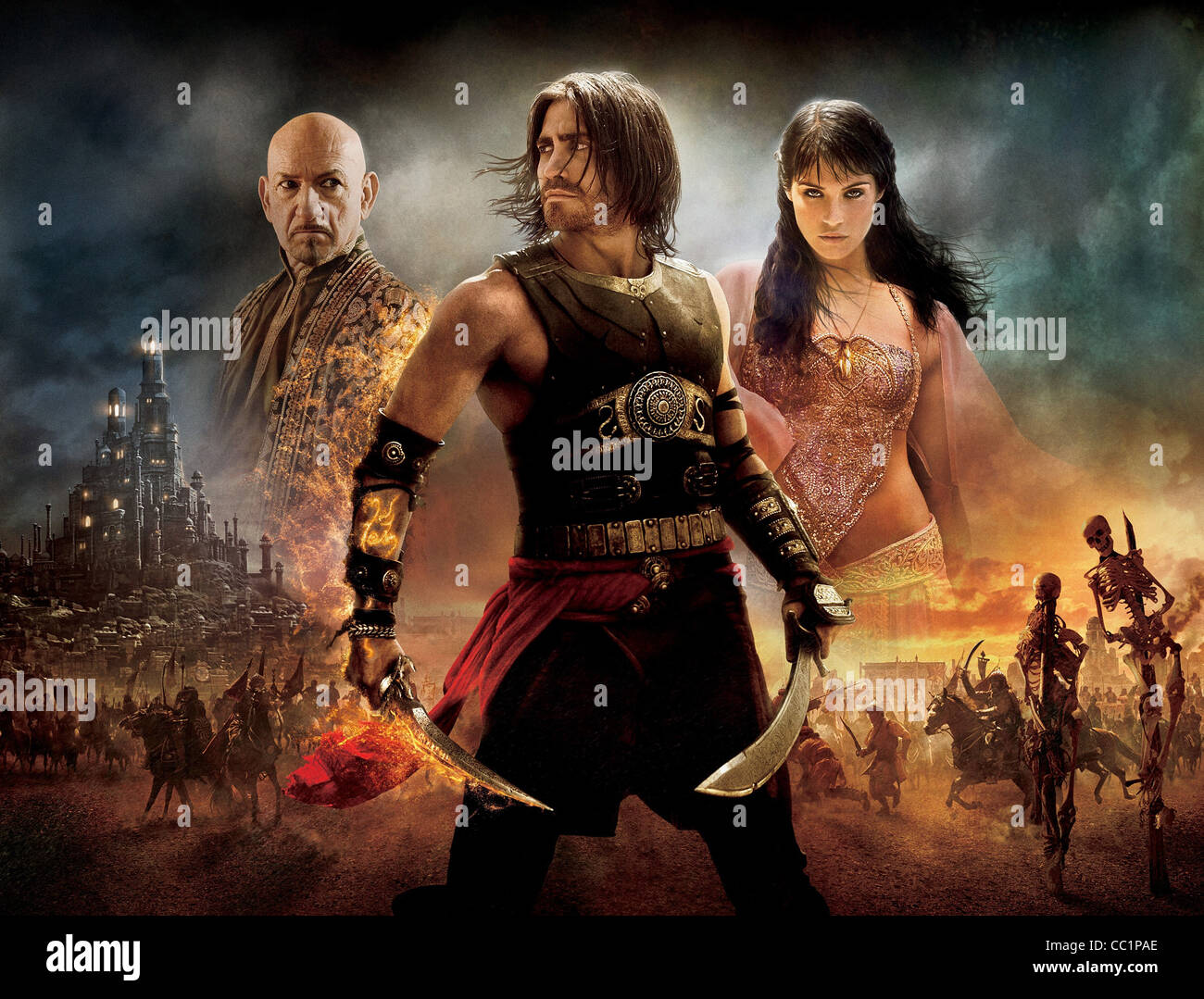 Ben Kingsley Jake Gyllenhaal Gemma Arterton Prince Of Persia The Stock Photo Alamy