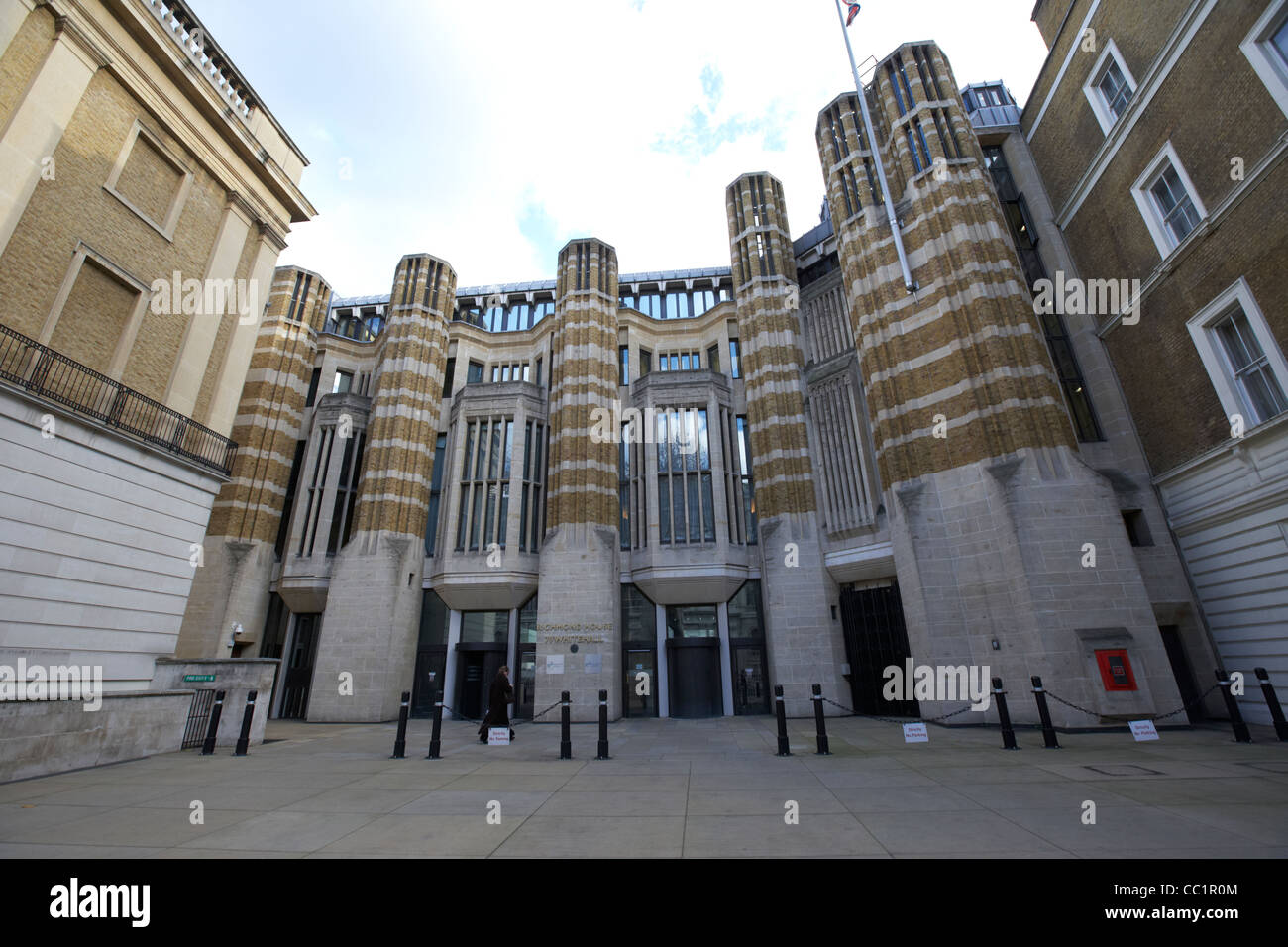 richmond house headquarters of the department of health and social care whitehall London England UK United kingdom - Stock Image