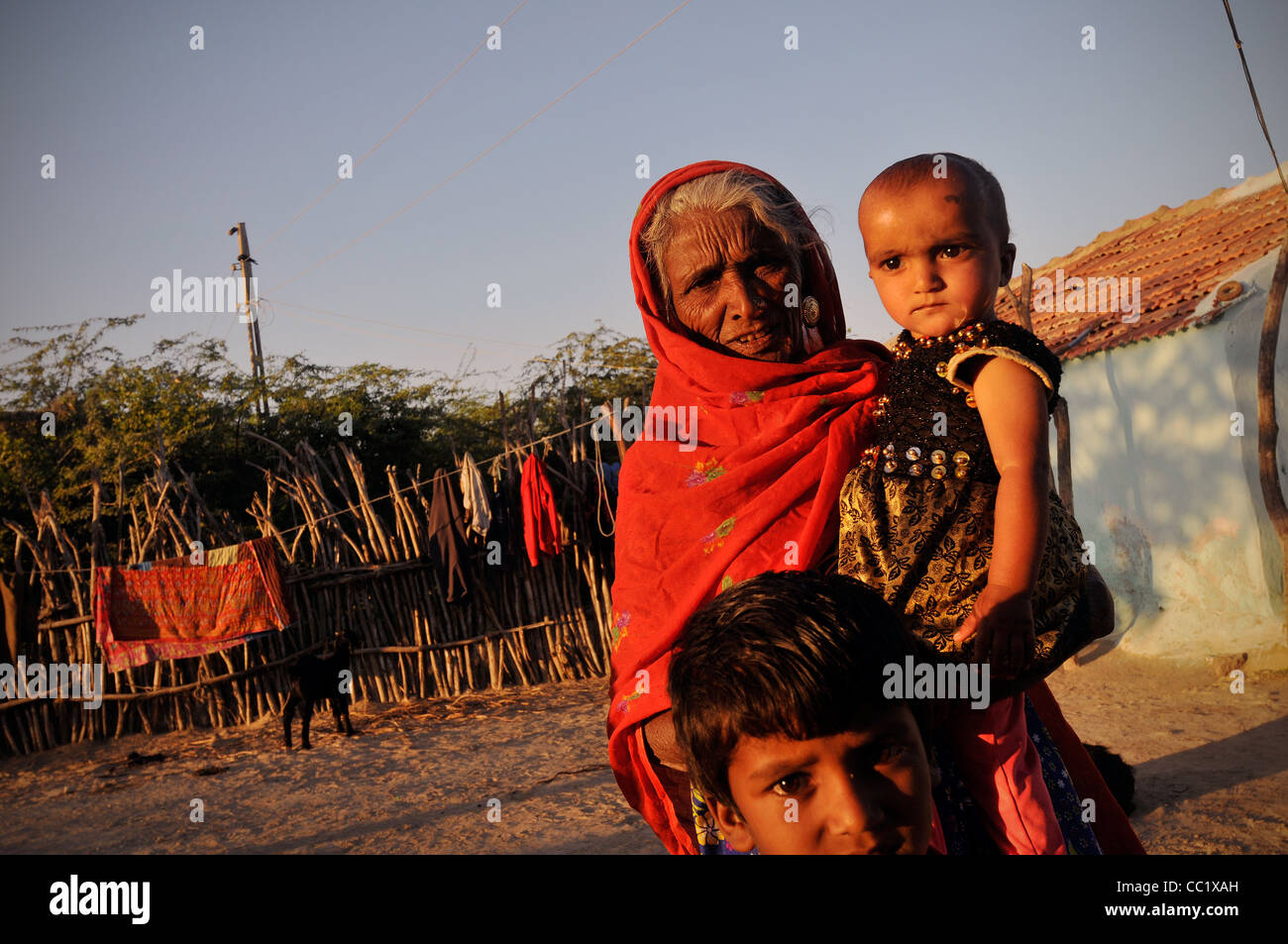 People in Kutch- Western India - Stock Image