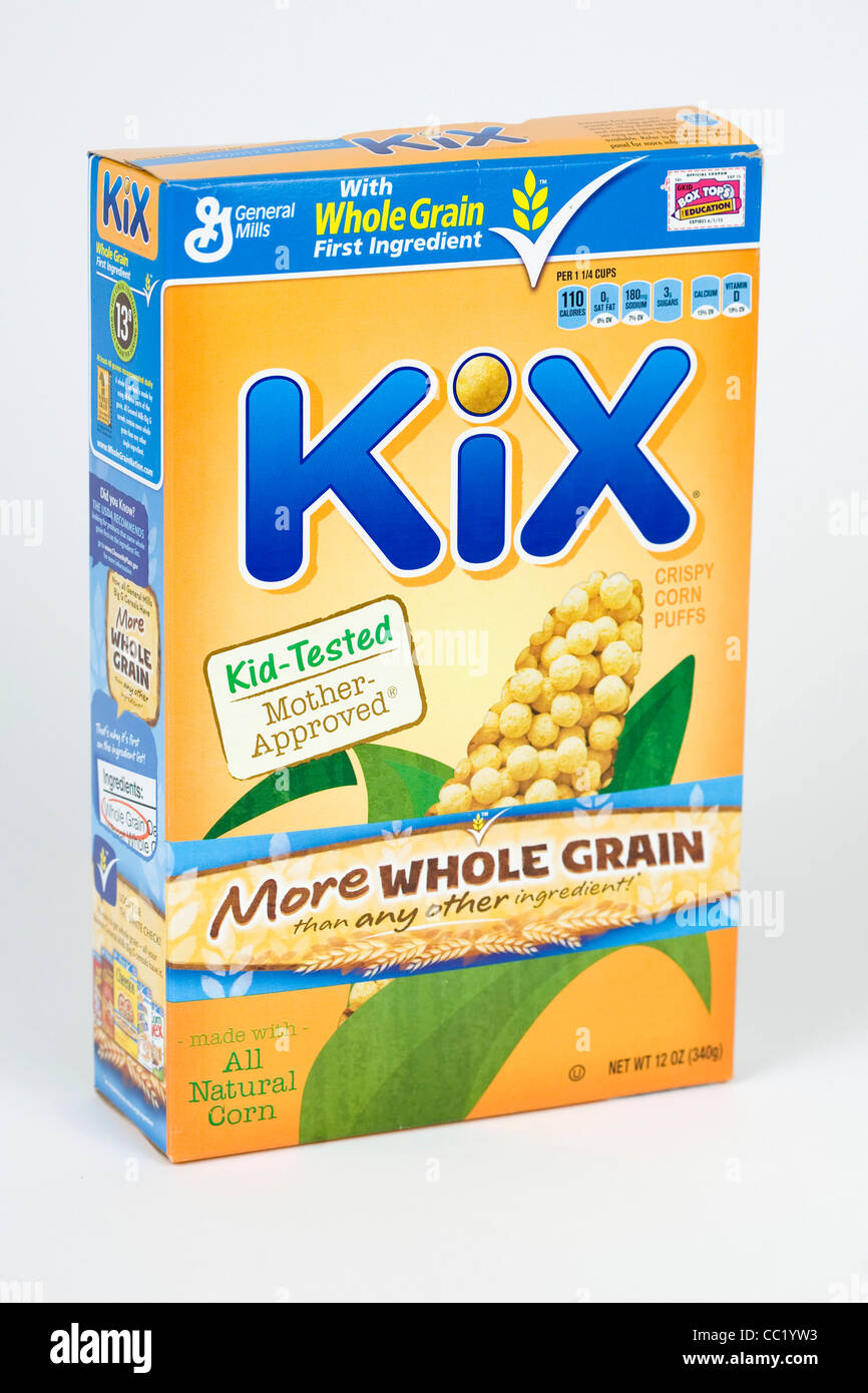 Kix breakfast cereal. - Stock Image