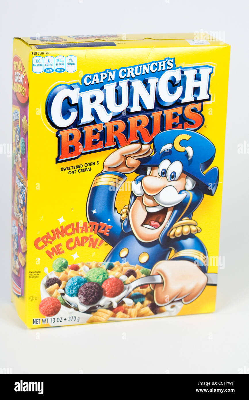 Cap'n Crunch's Crunch Berries breakfast cereal. - Stock Image