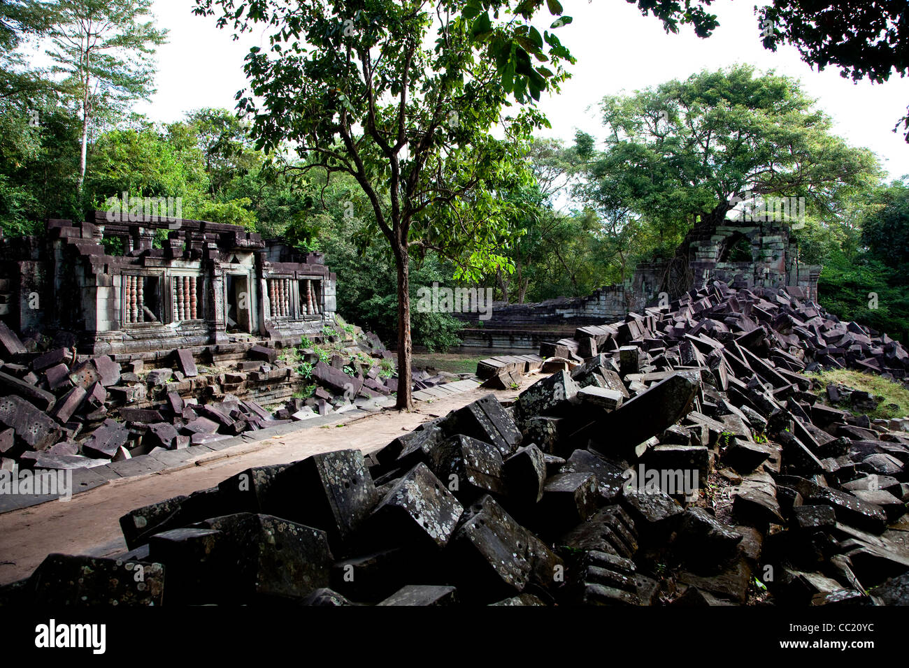 Beng Mealea, temple in the Angkor Wat style located east of the main group of temples at Angkor, Cambodia, Asia - Stock Image