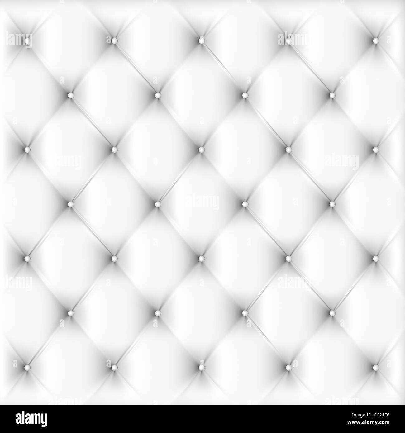 Buttoned on the white Texture. Repeat pattern - Stock Image
