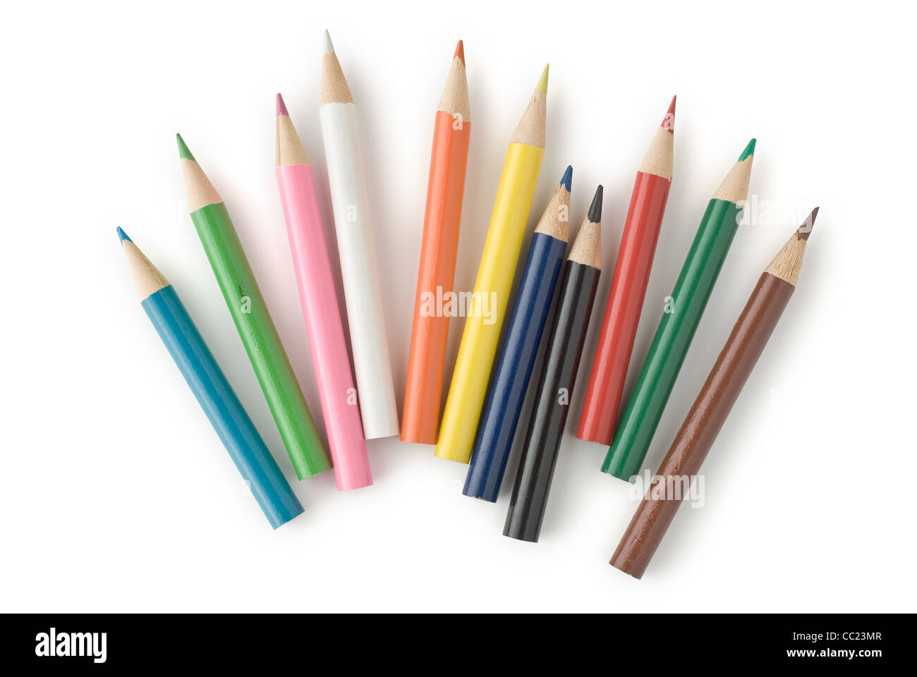 Colored Pencils for School or Professional Use - Stock Image