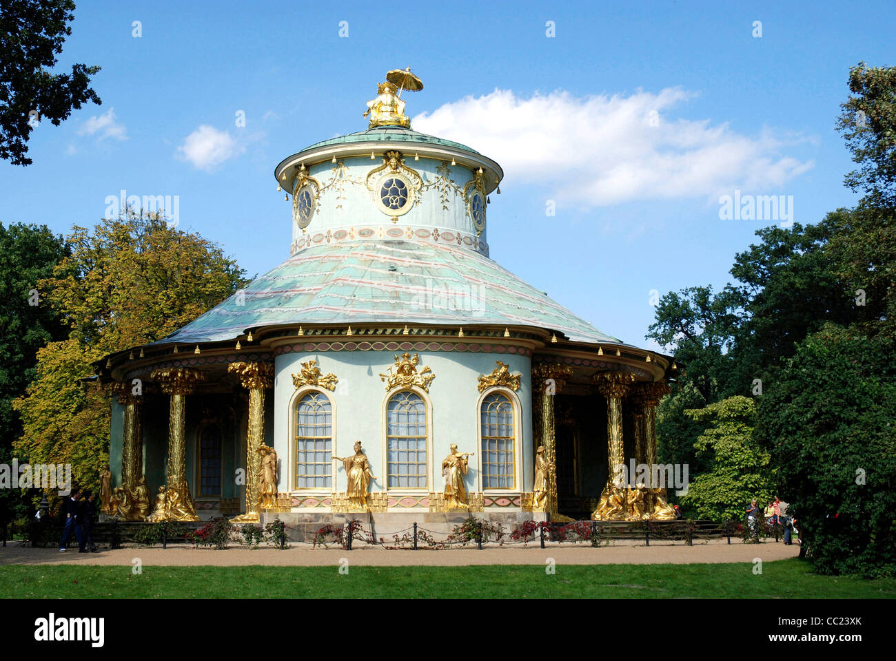 Chinese tea house of Sanssouci in Potsdam. - Stock Image
