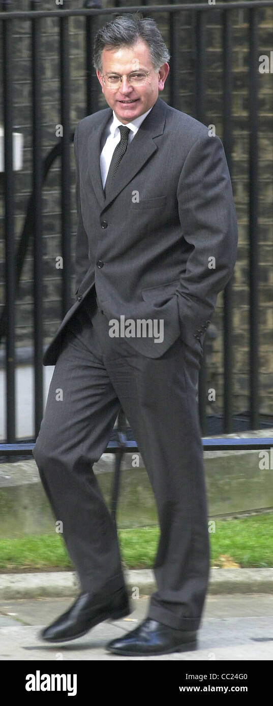 Downing Street Stephen Byers politician - Stock Image
