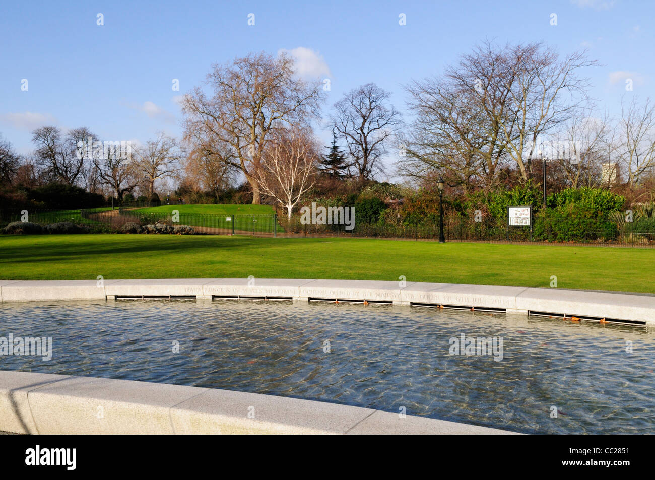 Princess Diana Memorial Fountain, Hyde Park, London, England - Stock Image