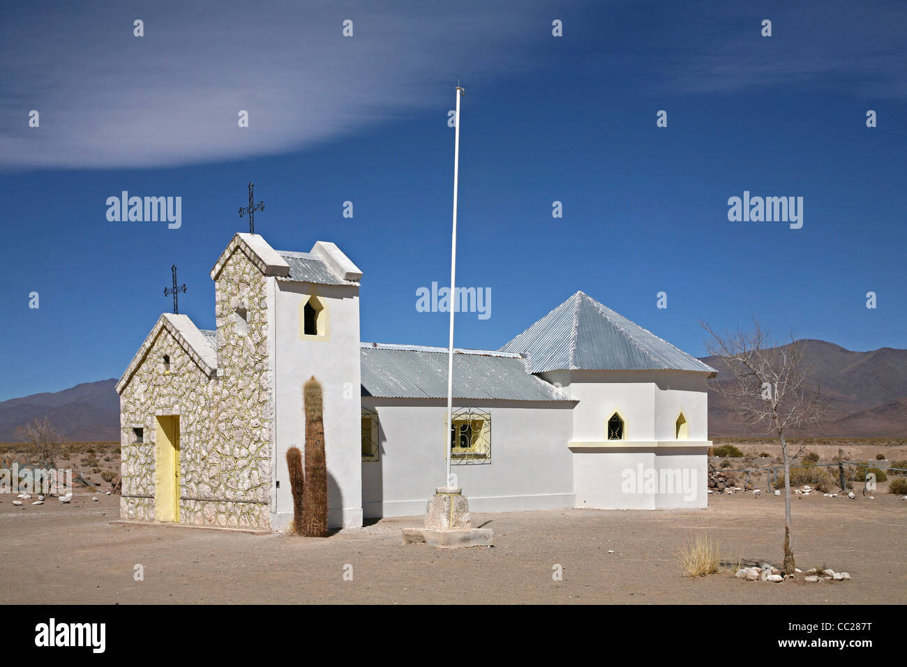 Private church on the Altiplano in Argentina - Stock Image