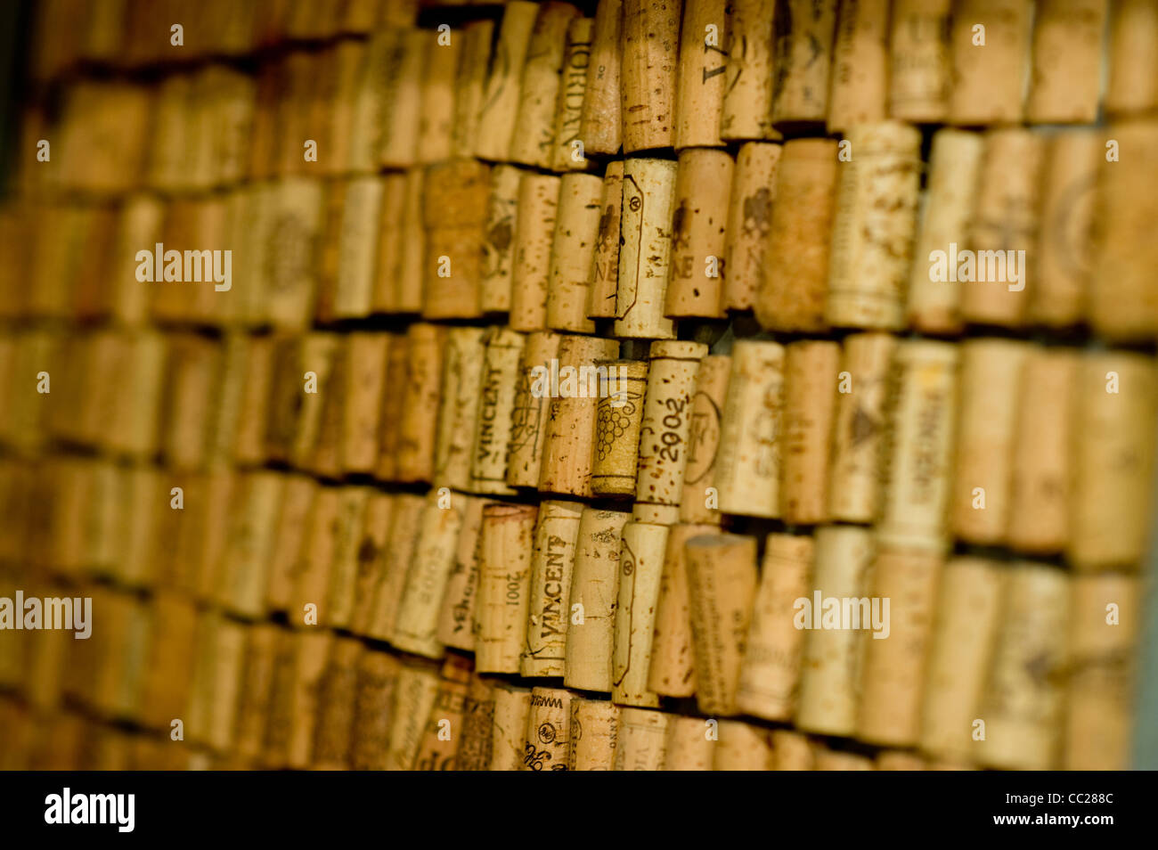 A selection of wine corks - Stock Image
