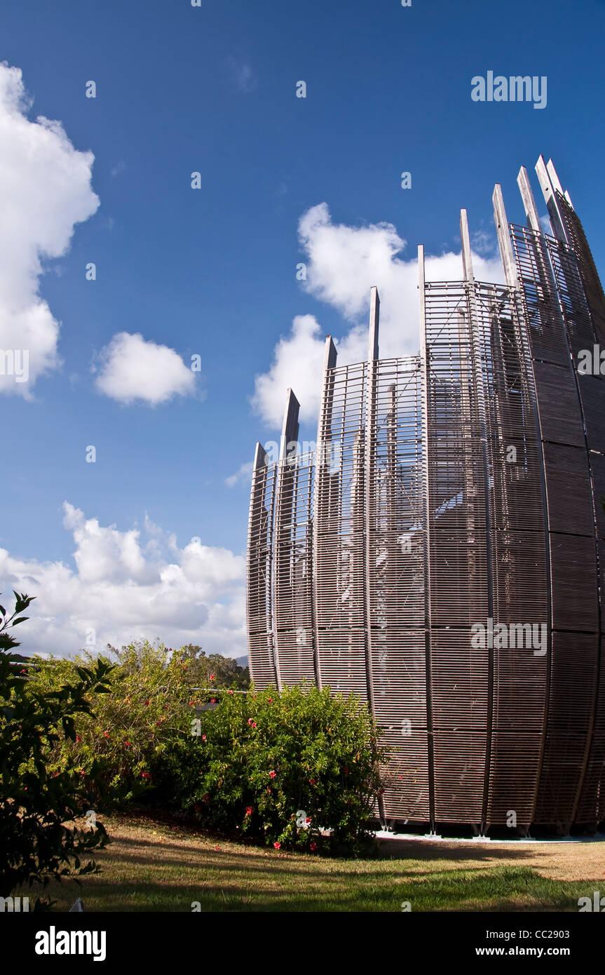 Jean-Marie Tjibaou Cultural Centre - Nouméa, New Caledonia - Stock Image