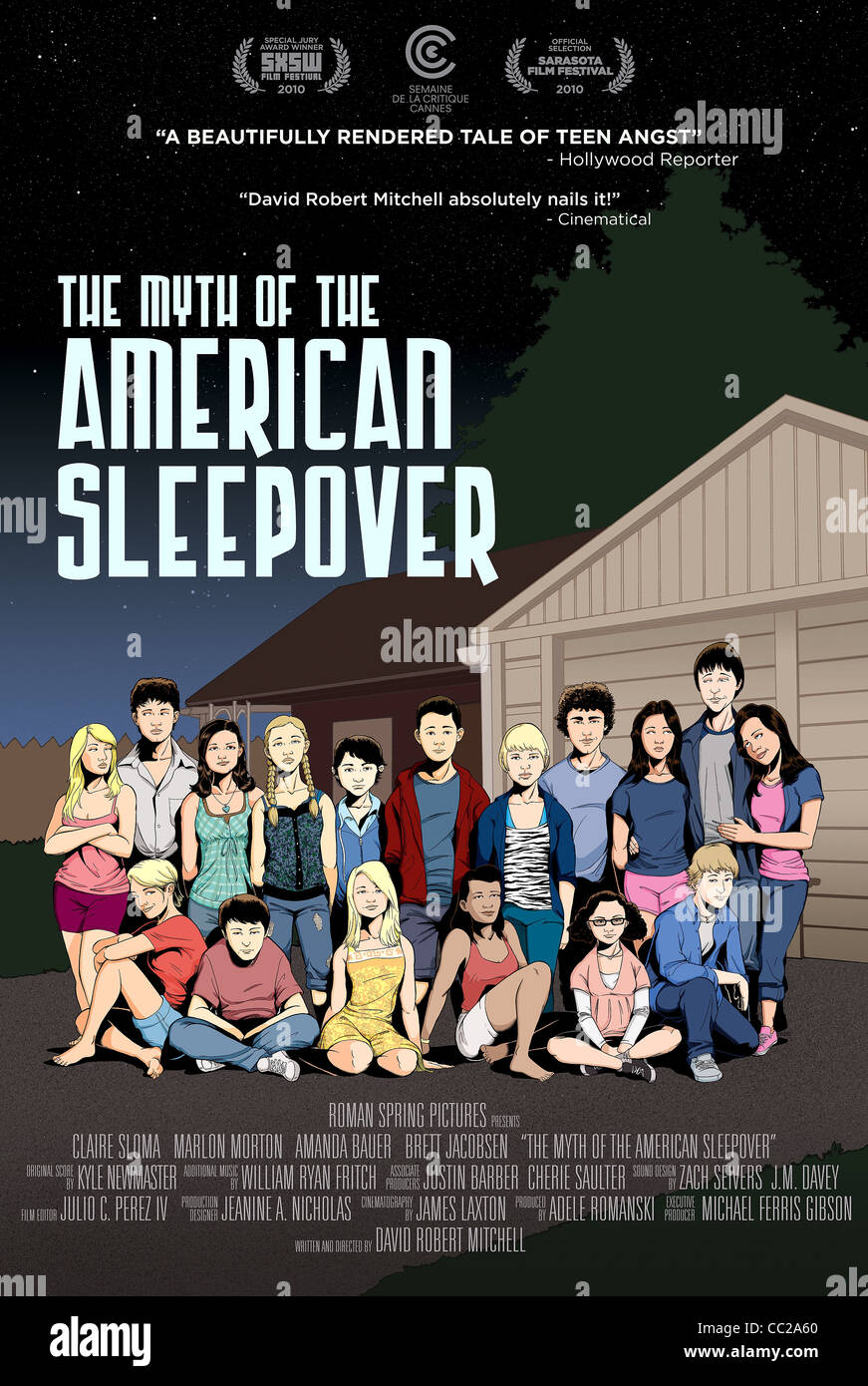 MOVIE POSTER THE MYTH OF THE AMERICAN SLEEPOVER (2010) - Stock Image
