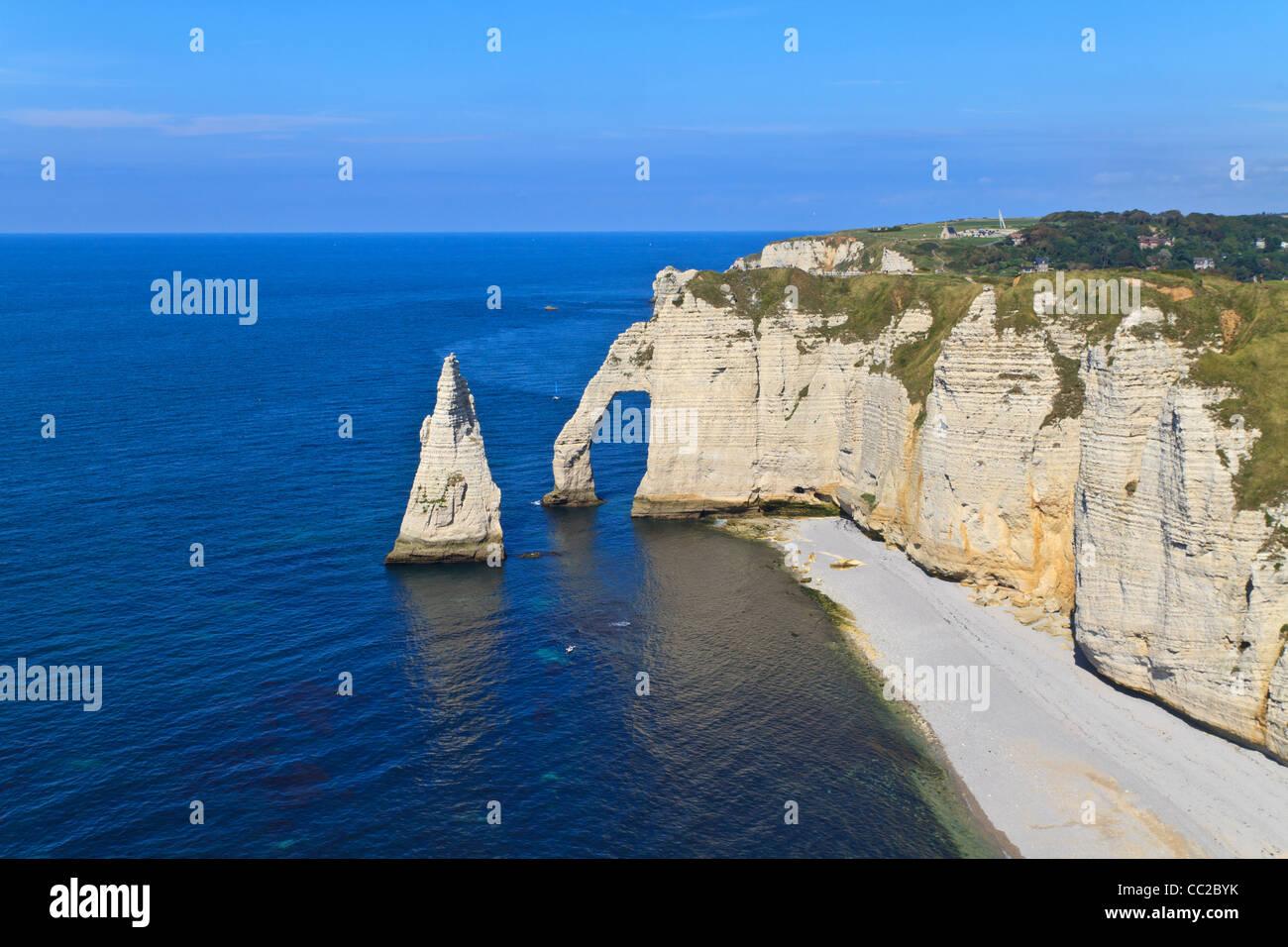 Cliffs of Etretat, Normandy, France - Stock Image