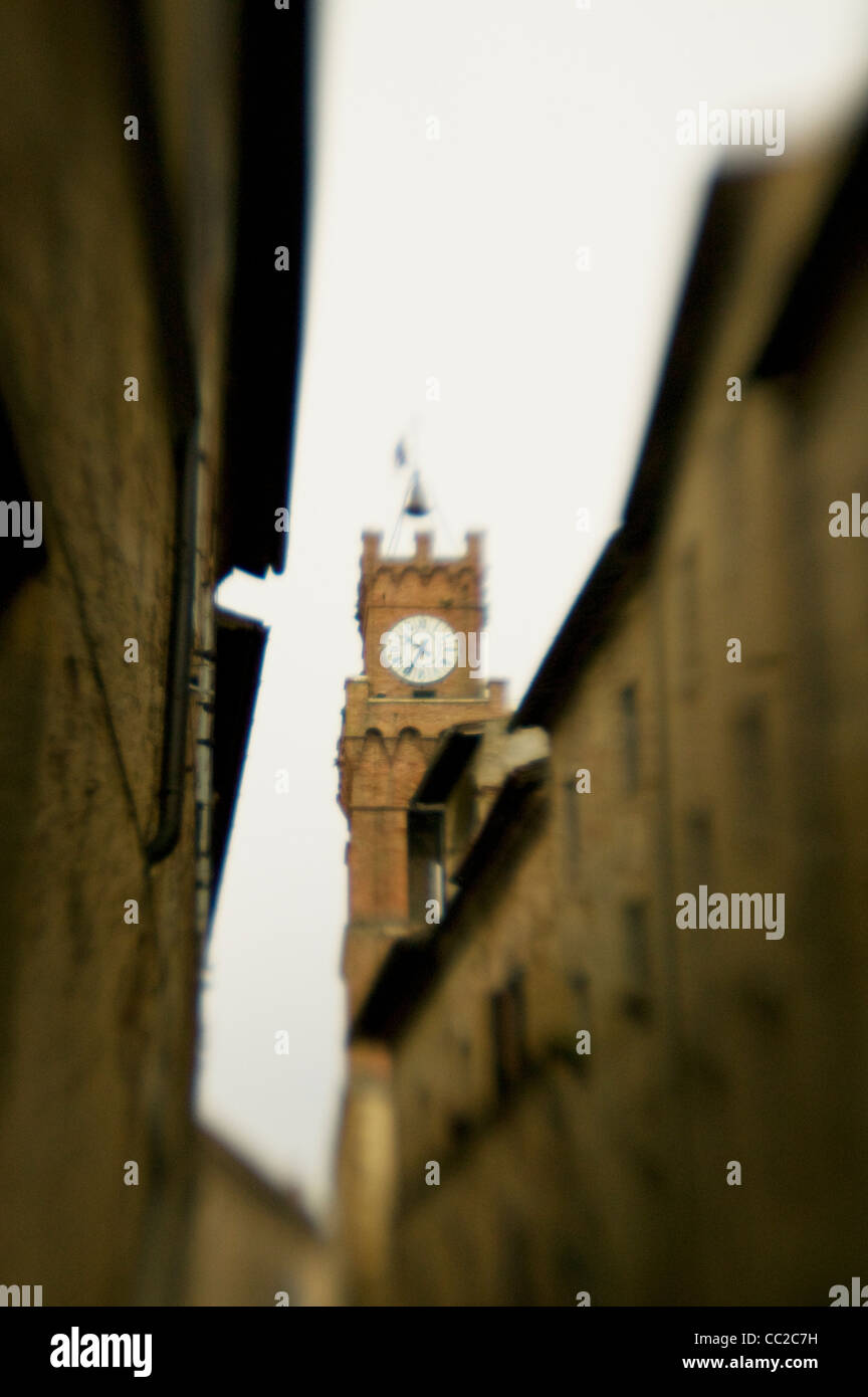 Clock tower in Tuscany - Stock Image
