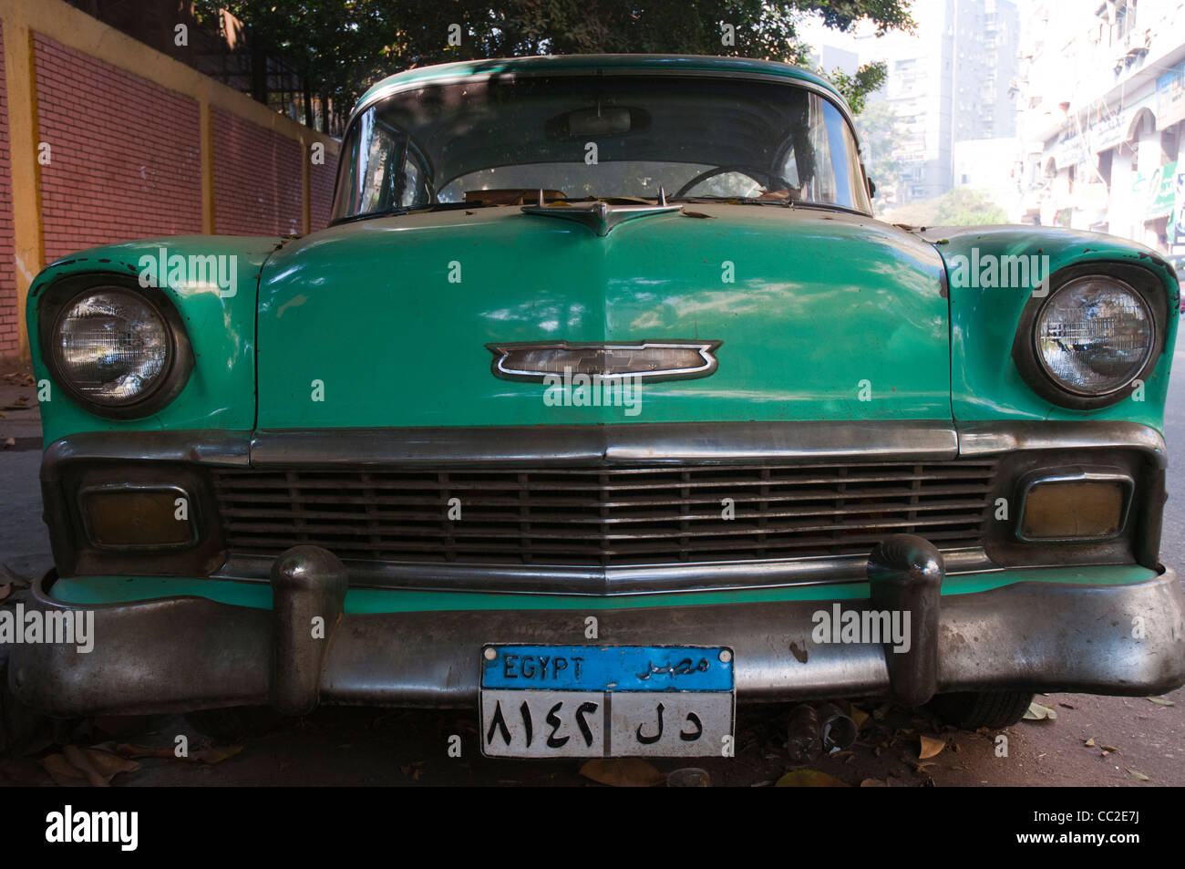 1950s Chevrolet Bel Air car in unrestored condition, Cairo, Egypt ...