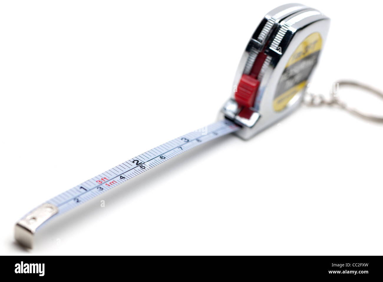 Extended metal tape measure - Stock Image