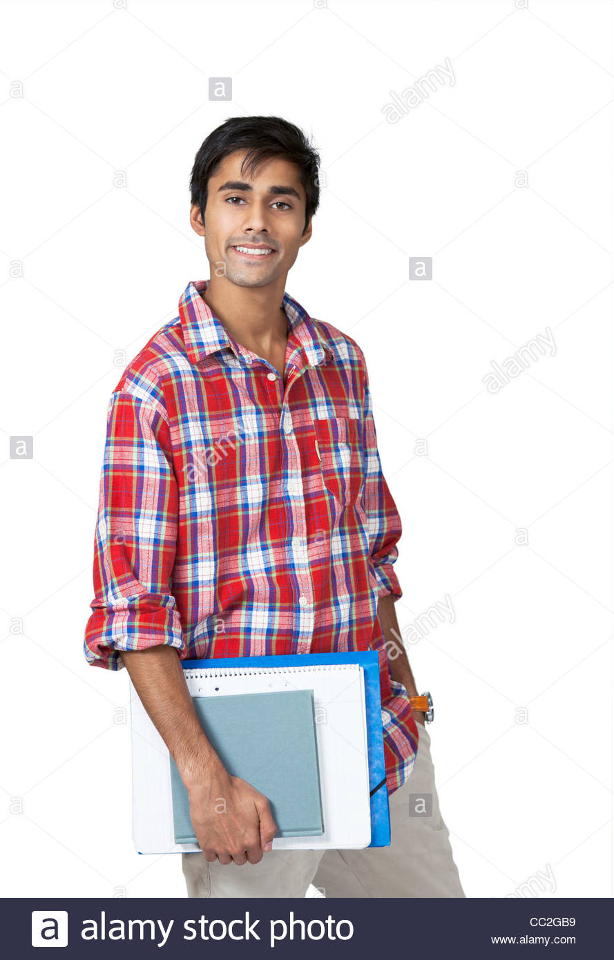 Cute college guy - Stock Image