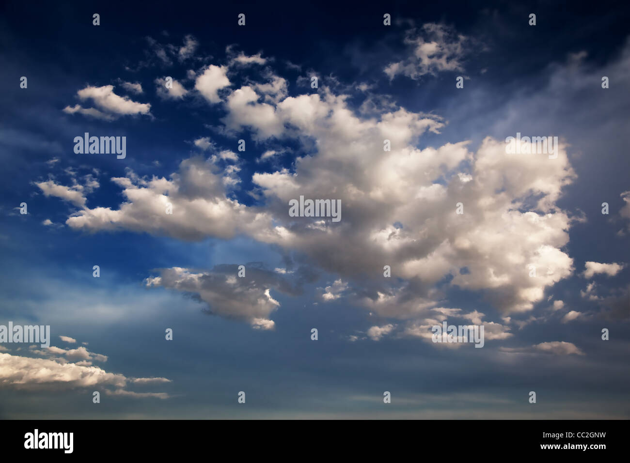 Blue Sky and clouds background - Stock Image