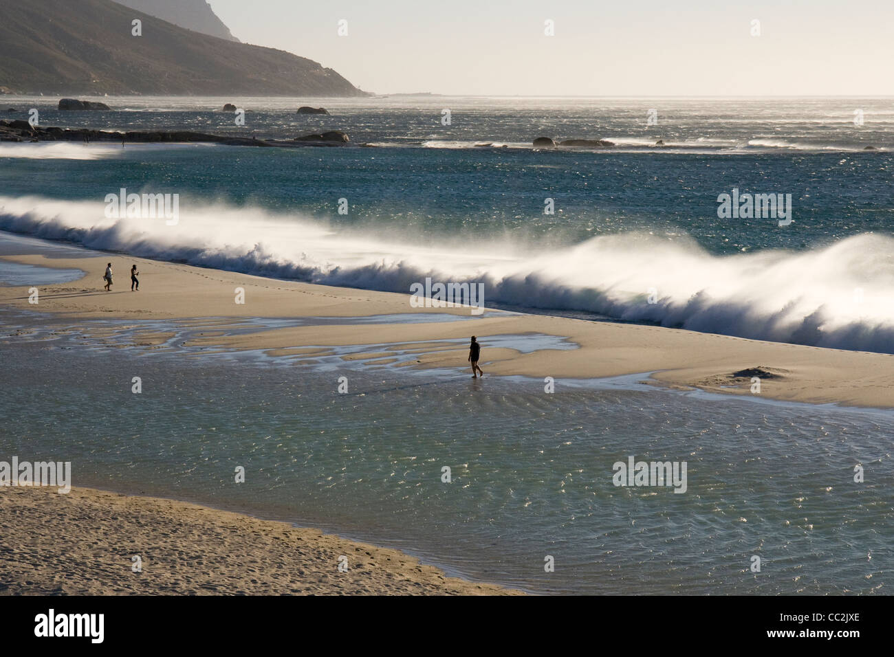 waves capetown - Stock Image