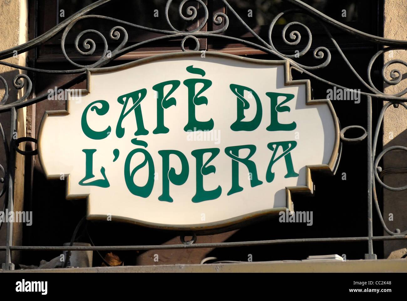 Barcelona, Spain. La Rambla. Cafe de l'Opera at No. 74 (1929) Stock Photo
