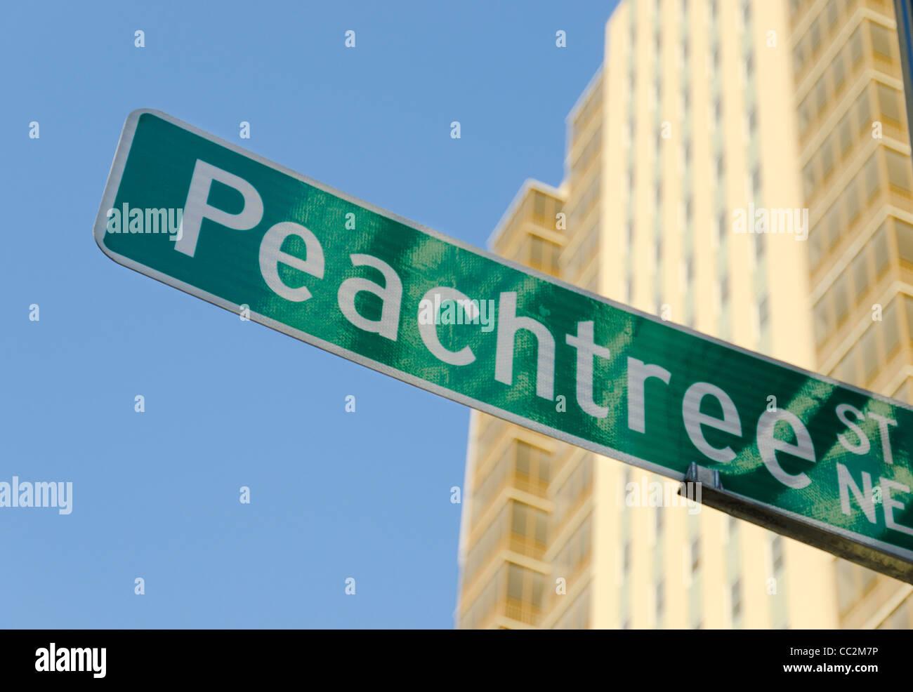 USA, Georgia, Atlanta, Low angle view of Peachtree Center - Stock Image