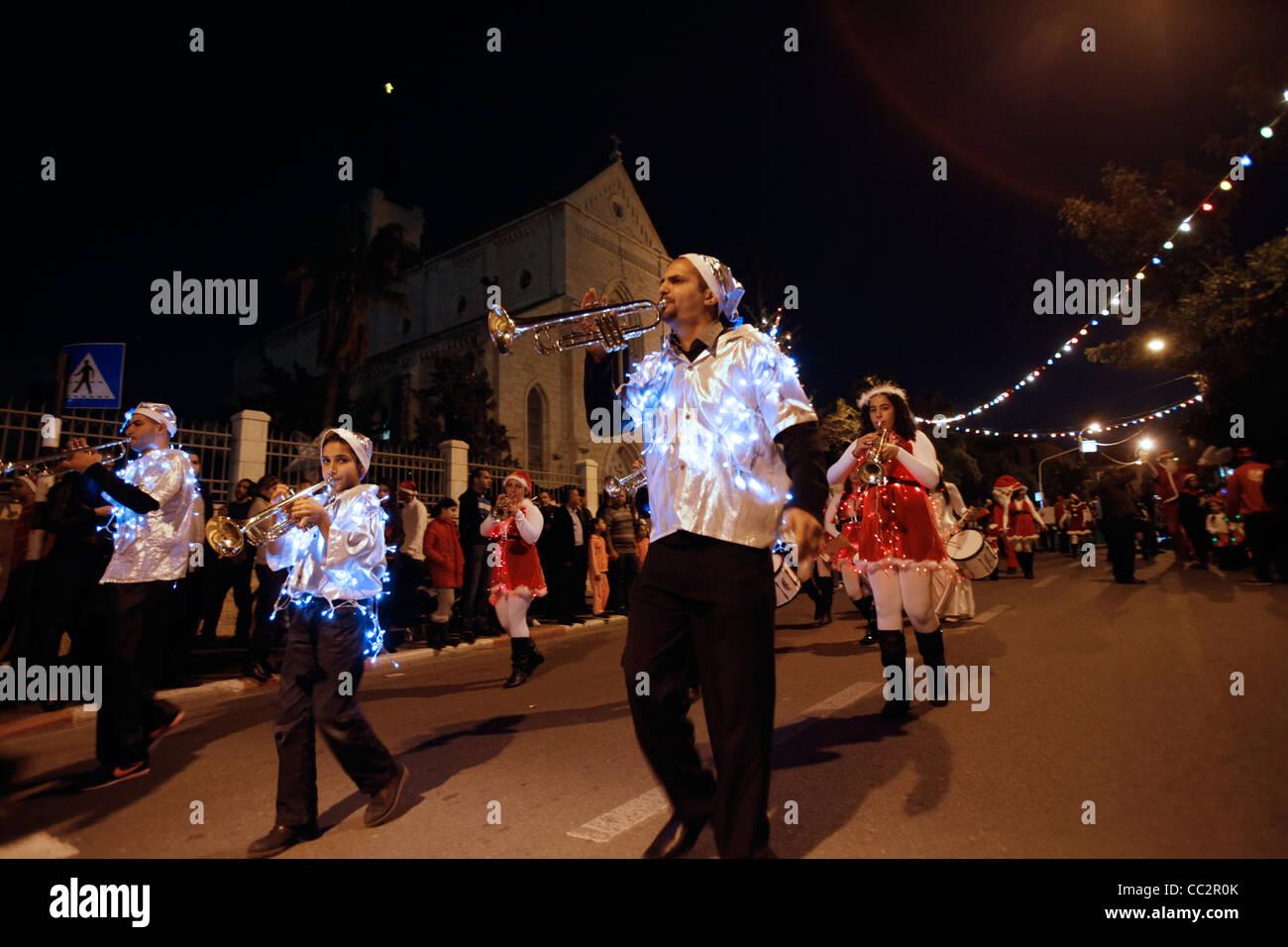 Traditional Christmas Music.Young Israeli Arab Christians Playing Traditional Christmas