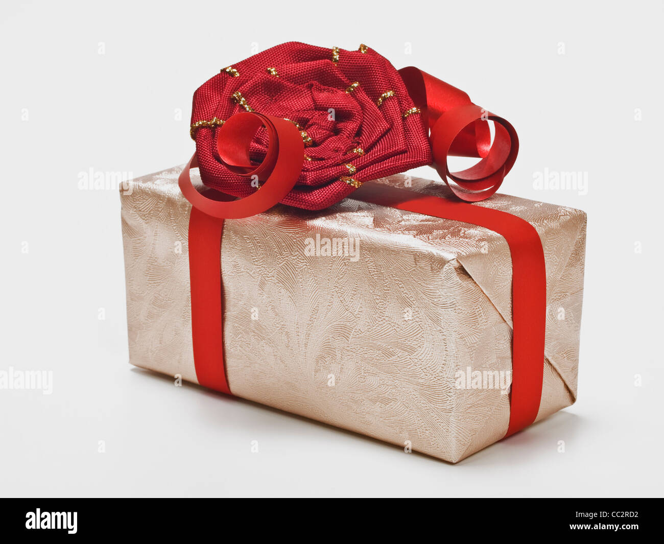 Detail photo of a present - Stock Image