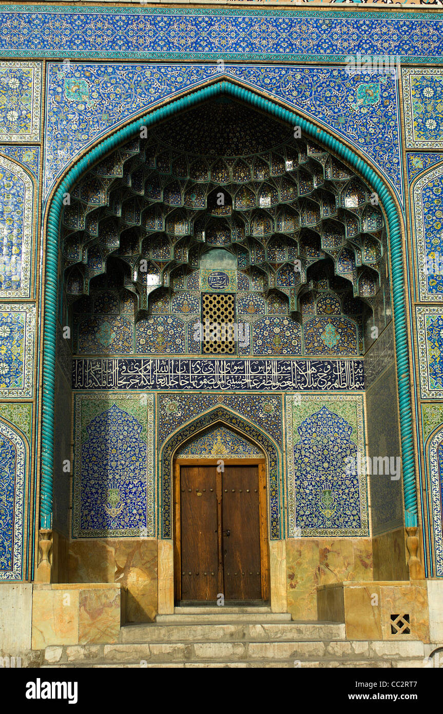 The Sheih Lotfollah Mosque in Isfahan, built by Shah Abbas I in the early 1600s, is certainly the most exquisite - Stock Image