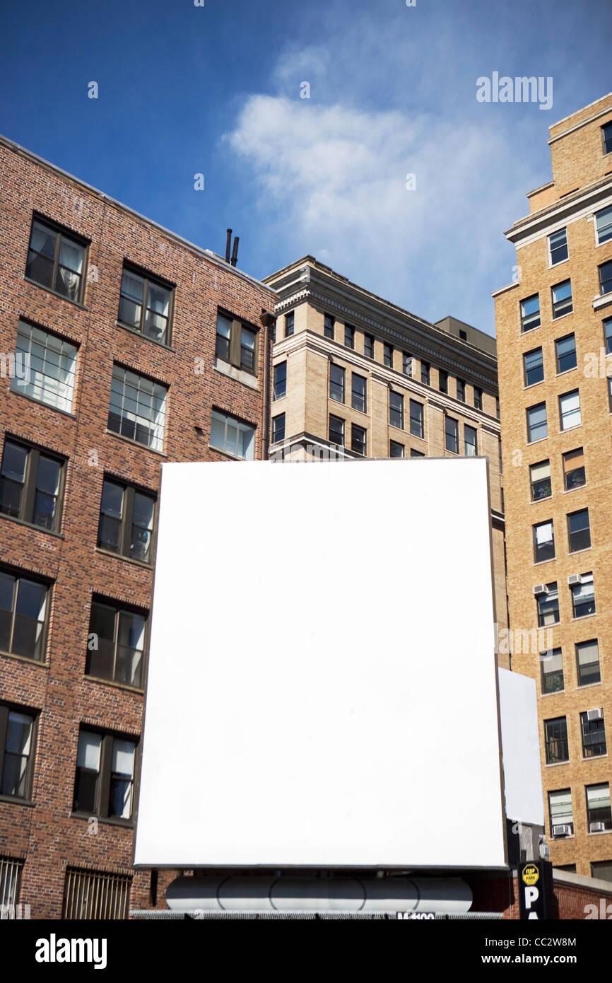 USA, New York State, New York City, Empty billboard - Stock Image