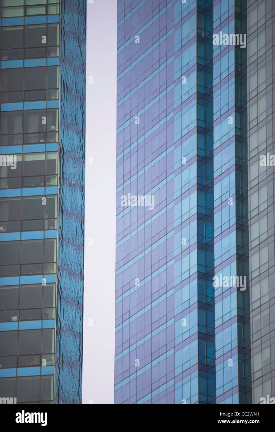 USA, New York City, Exterior of modern office buildings - Stock Image
