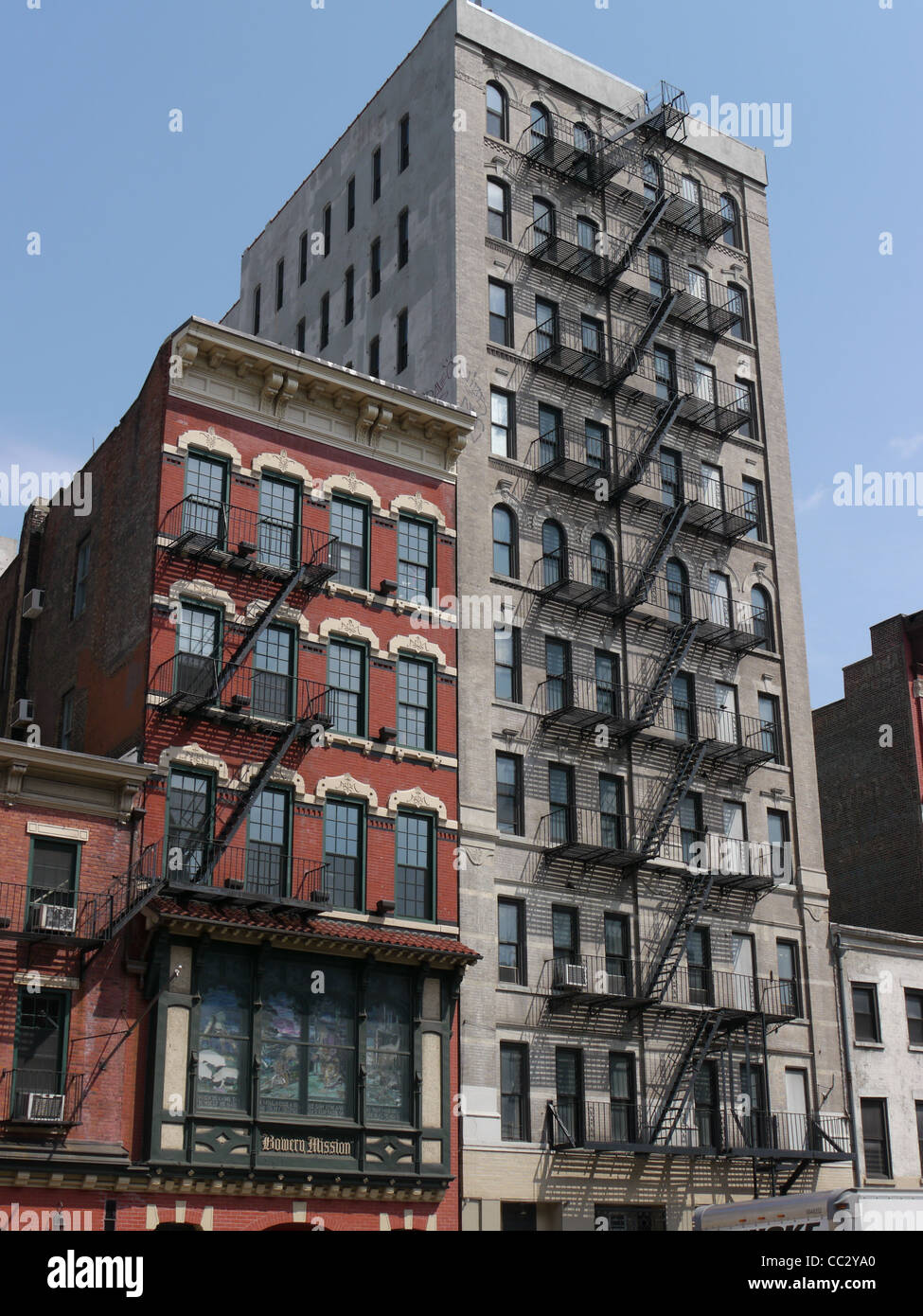 New York Old Office Buildings With Fire Escape Stock Photo 41861960