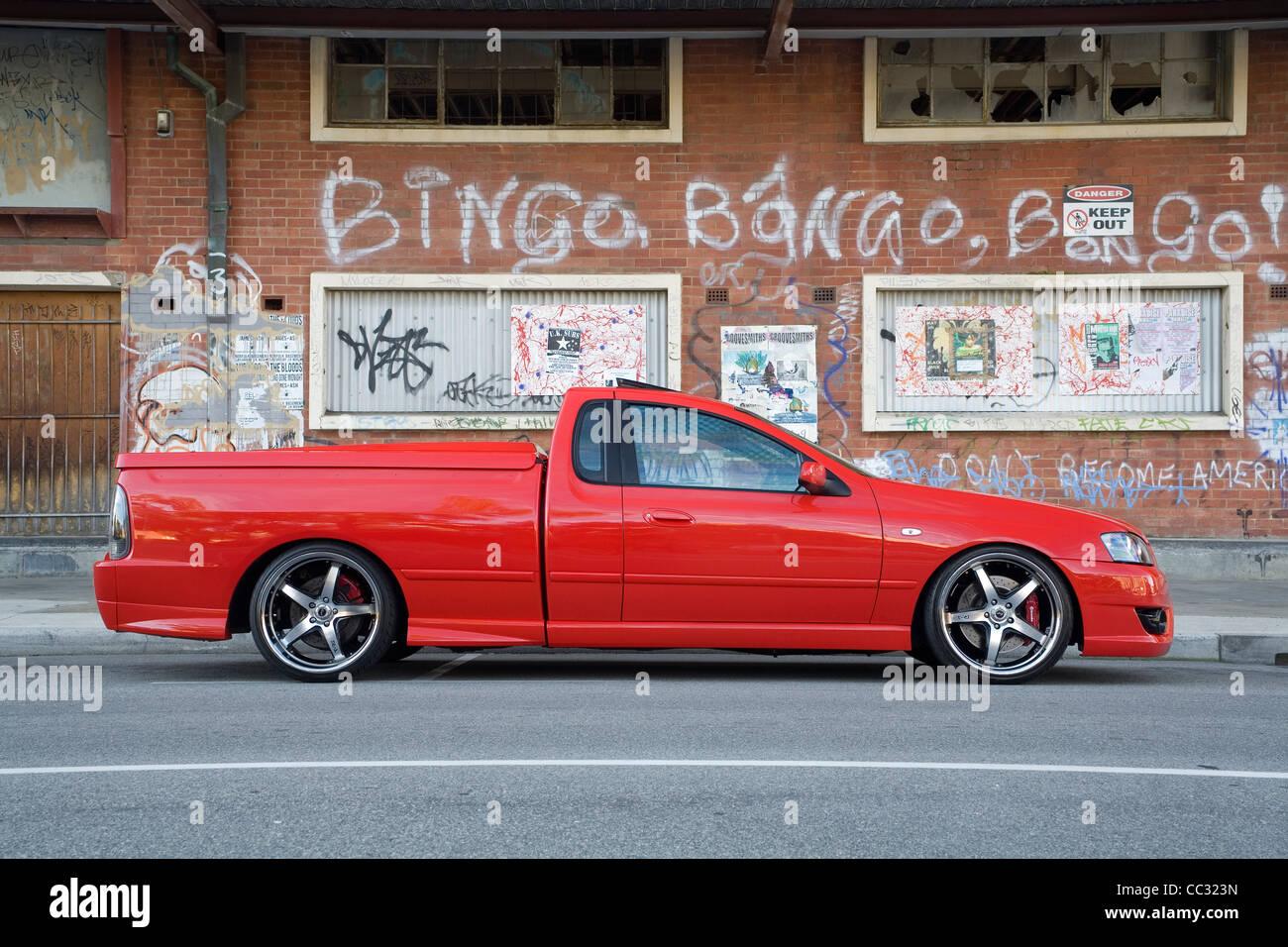 Australian FPV Ford Falcon ute, or utility, pick up pickup truck modern car. - Stock Image