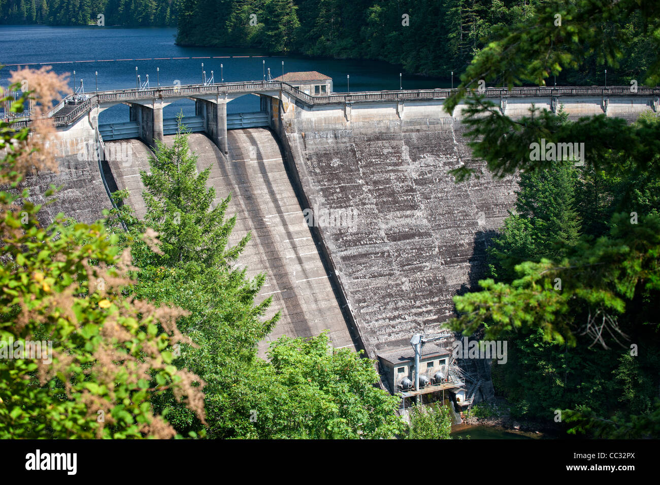 Spillway, Dam 1, Bull Run Watershed, Oregon - Stock Image