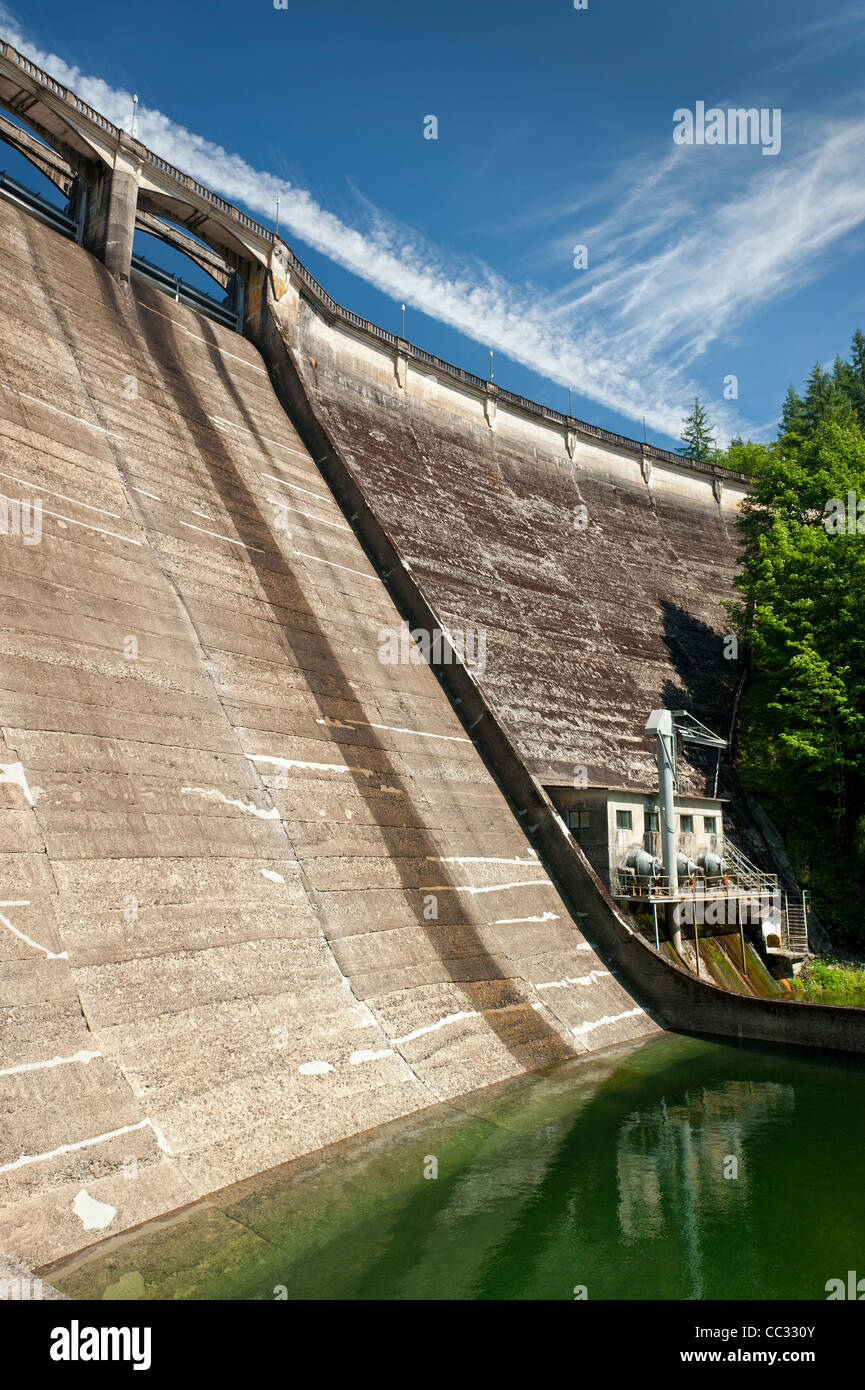 Spillway and tailrace of Dam 1, Bull Run Watershed, Oregon - Stock Image