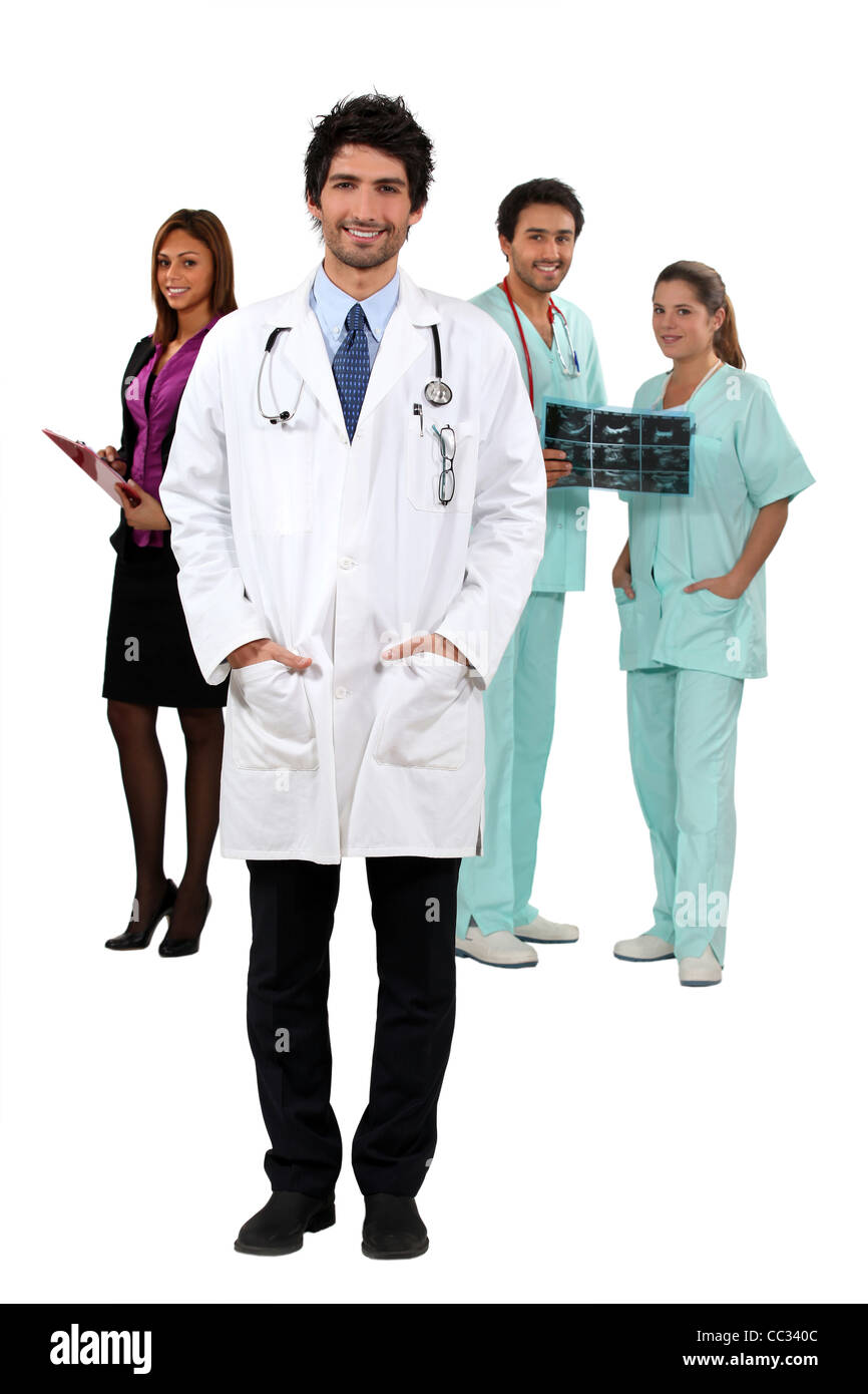 Hospital employees - Stock Image
