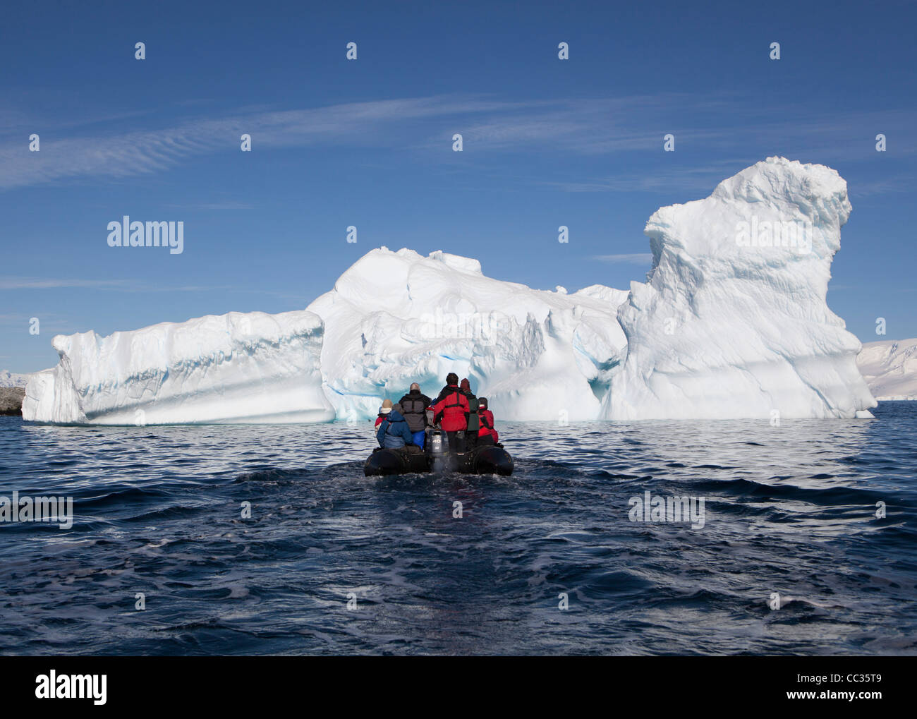 Ice Bergs, Melchoir Islands, Antarctica - Stock Image