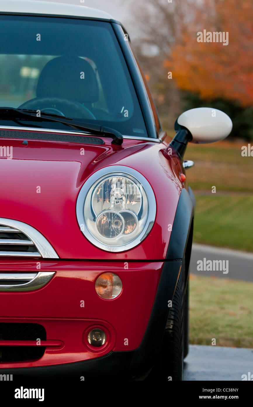 2005 Mini Cooper against autumn background  © james stewart 2010 - Stock Image