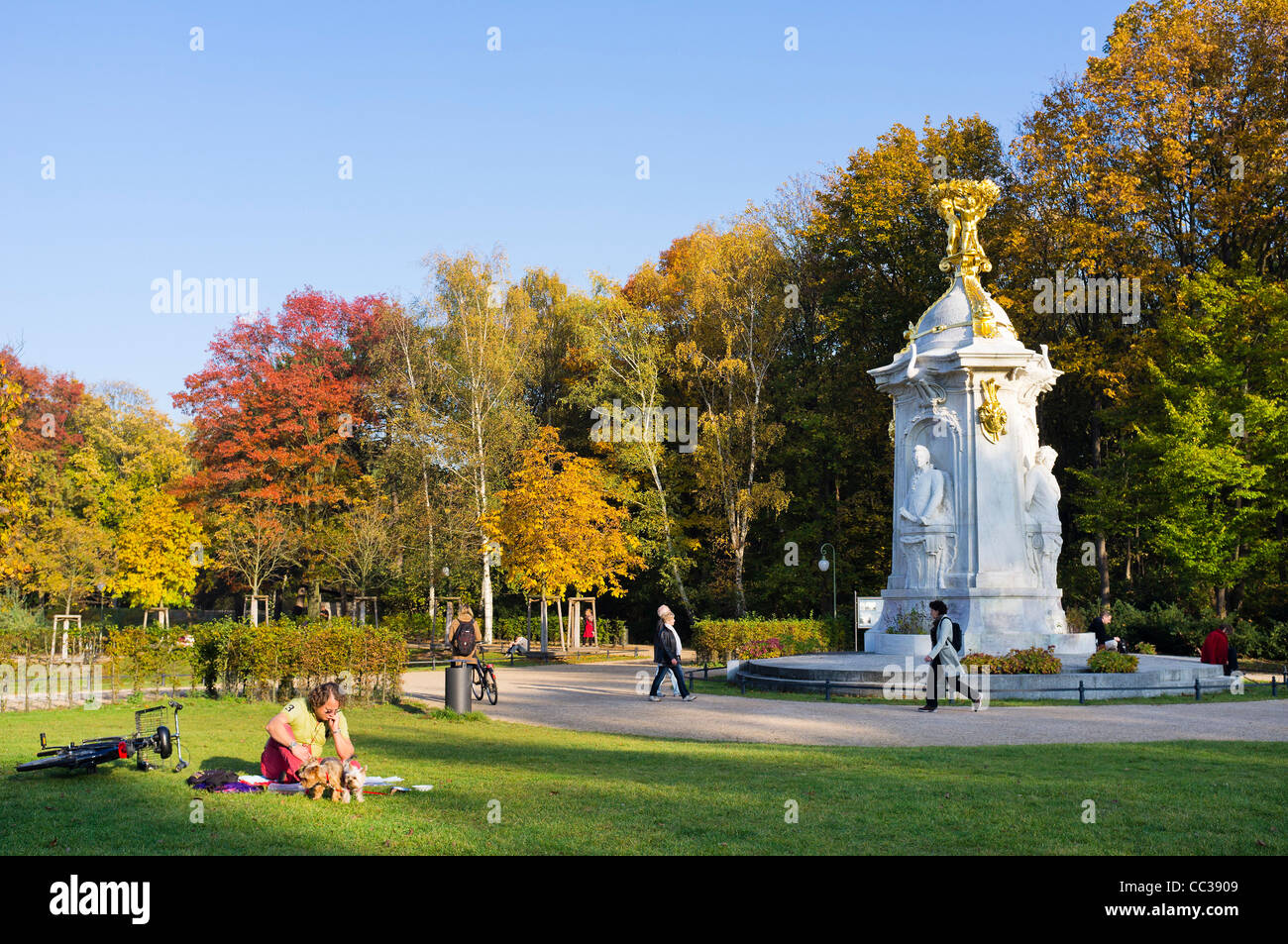 Beethoven-Haydn-Mozart monument, memorial to composers, Tiergarten, Berlin, Germany, Europe - Stock Image