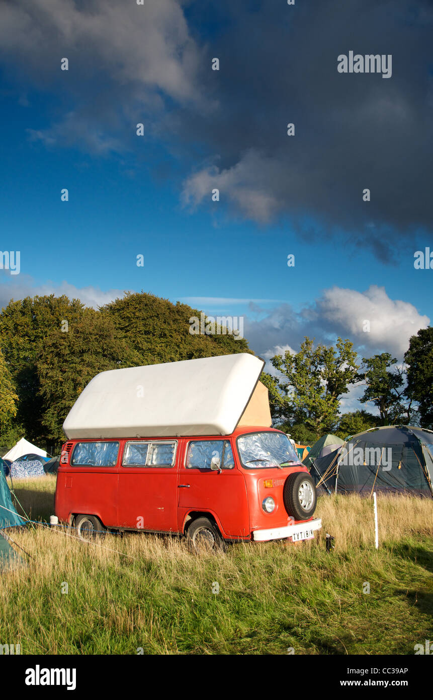 Camping at End of the Road Festival 2011 - Stock Image