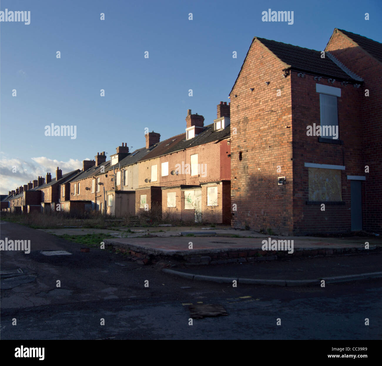 Houses In The Old South Yorkshire Mining Town Of