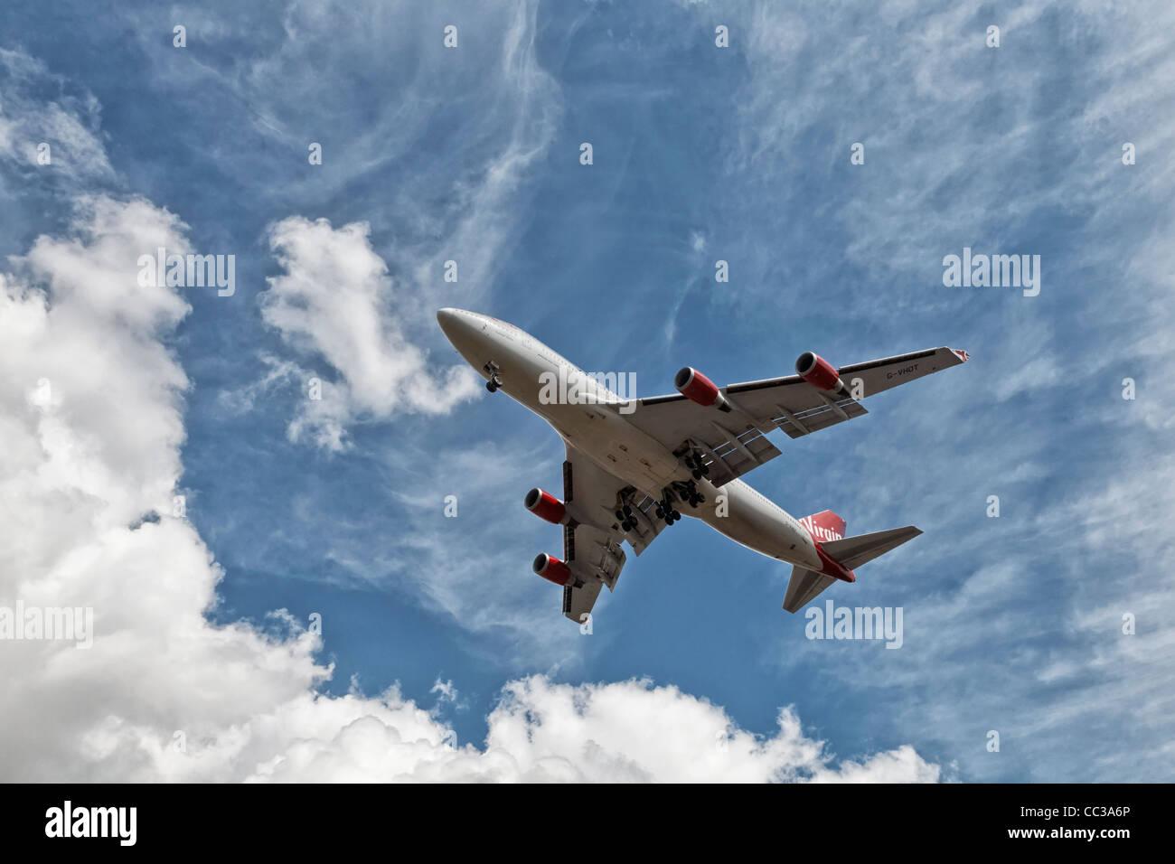 Boeing 747 Jumbo Jet of Virgin Airways Stock Photo
